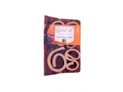 Křišťálové mýdlo s vruty čokoládové 100g