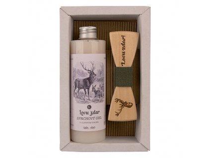 Bohemia Gifts Kosmetická sada pro myslivce - sprchový gel a motýlek Myslivec