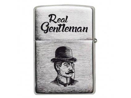 Bohemia Gifts Kovový benzínový zapalovač - gentleman