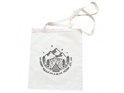 Bohemia Gifts Látková taška 40 x 33 cm - Hory volají