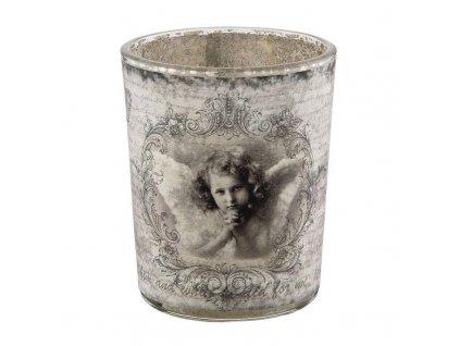 Sklenička na čajovou svíčku PRAYING ANGEL Ø 5*7 cm
