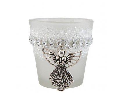 Sklenička na čajovou svíčku ANGEL Ø 7*7 cm