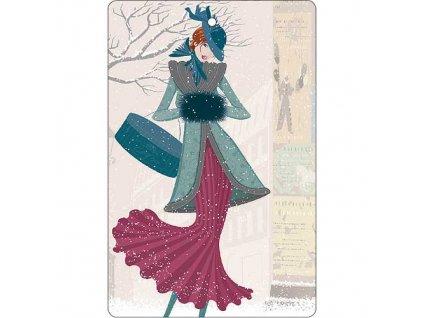 Aromatická vonná karta 10,5 x 16 cm - jemná a čistá vůně