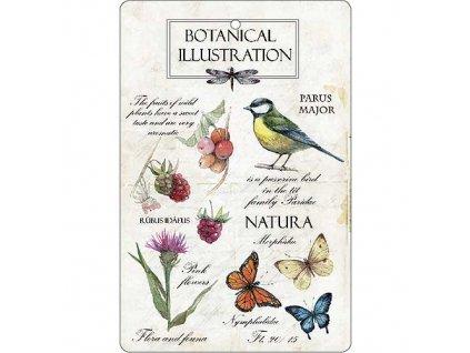 Aromatická vonná karta 10,5 x 16 cm - natura