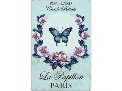 Aromatická vonná karta 10,5 x 16 cm - motýl