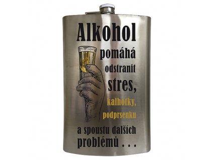 Placatka na alkohol 1,8 l - alkohol pomáhá