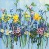 Dezertní třívrstvé ubrousky Spring flowers, 20 ks