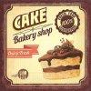 Dezertní třívrstvé ubrousky Chocolate cake, 20 ks