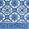 Dezertní třívrstvé ubrousky Blue tiles, 20 ks