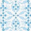 Dezertní třívrstvé ubrousky Spring pattern blue, 20 ks