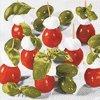 Dezertní třívrstvé ubrousky Red, white, green, 20 ks