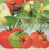 Dezertní třívrstvé ubrousky Pomodori, 20 ks