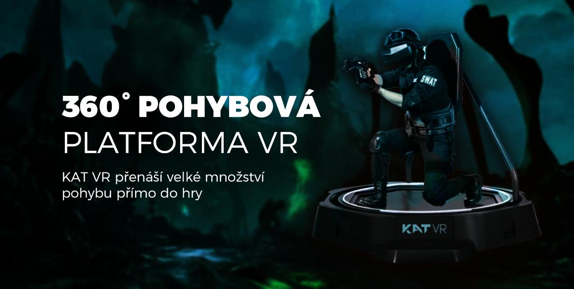 360° Pohybová platforma VR  KAT VR přenáší velké množství pohybu přímo do hry