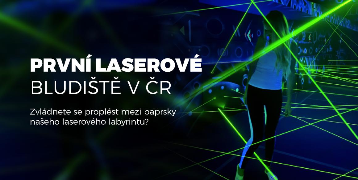 Laserové bludiště. Zvládnete se proplést mezi paprsky prvního laserového labyrintu v České republice?