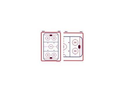 Trenérská tabule Blue Sport hokej 10cm x 15cm kapesní