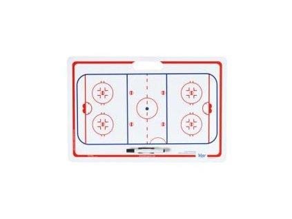 Trenérská tabule Blue Sport hokej 40cm x 61cm s fixou