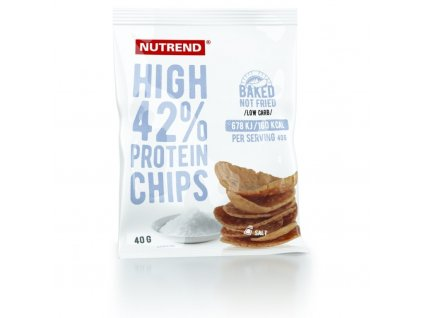 CHIPSY NUTREND HIGH PROTEIN 40G SŮL