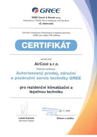 Certifikát klimatizace