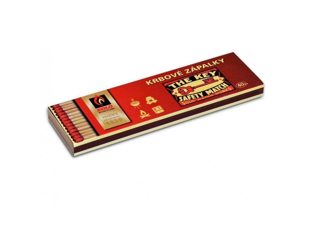 SOLO Zápalky krbové KR 40 (40 ks v krabičce)