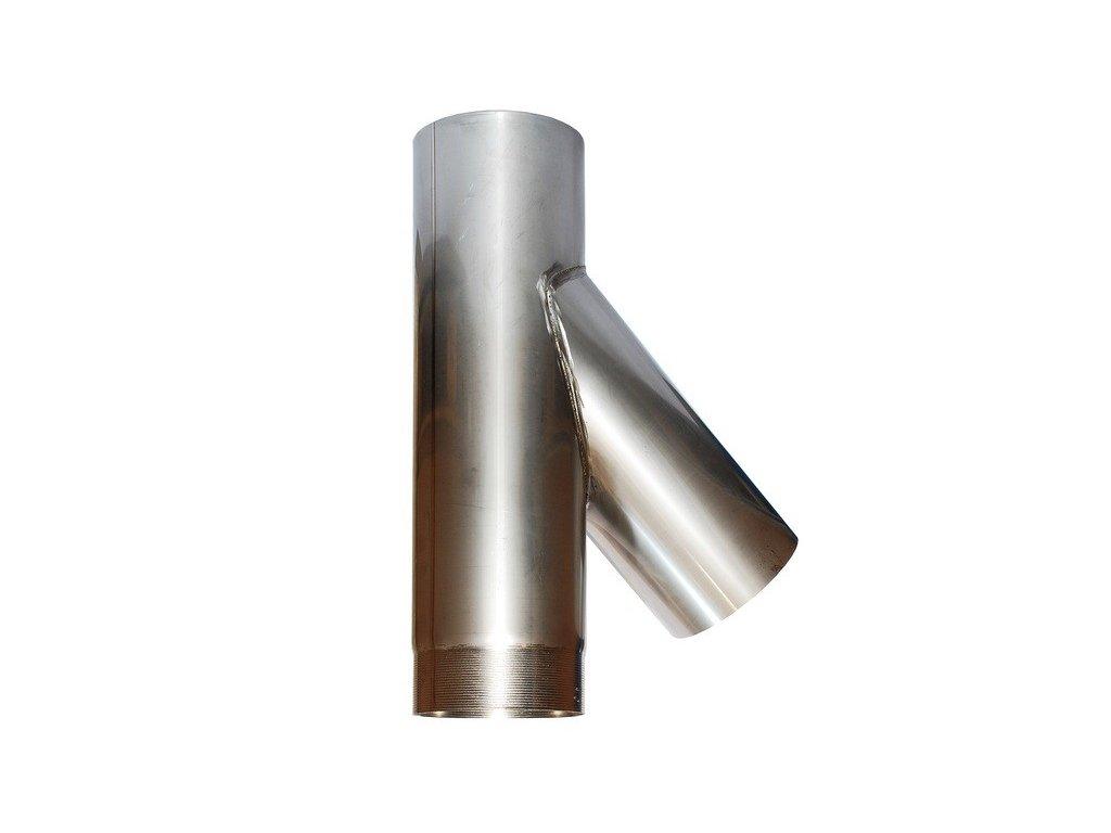 Připojovací díl 45° kom. vložky - Y díl (Ø150mm, tl. 0,8 mm)