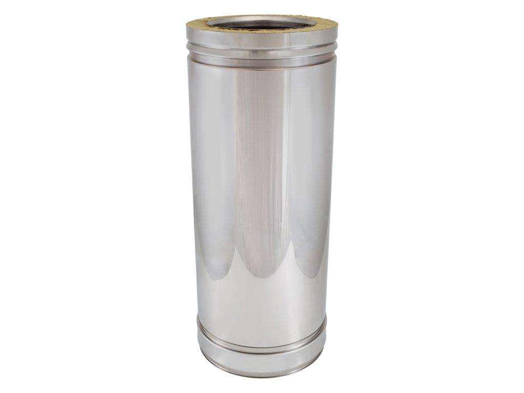 Trubkový díl 0,5 m (Ø130 mm, tl. 0,8 mm)