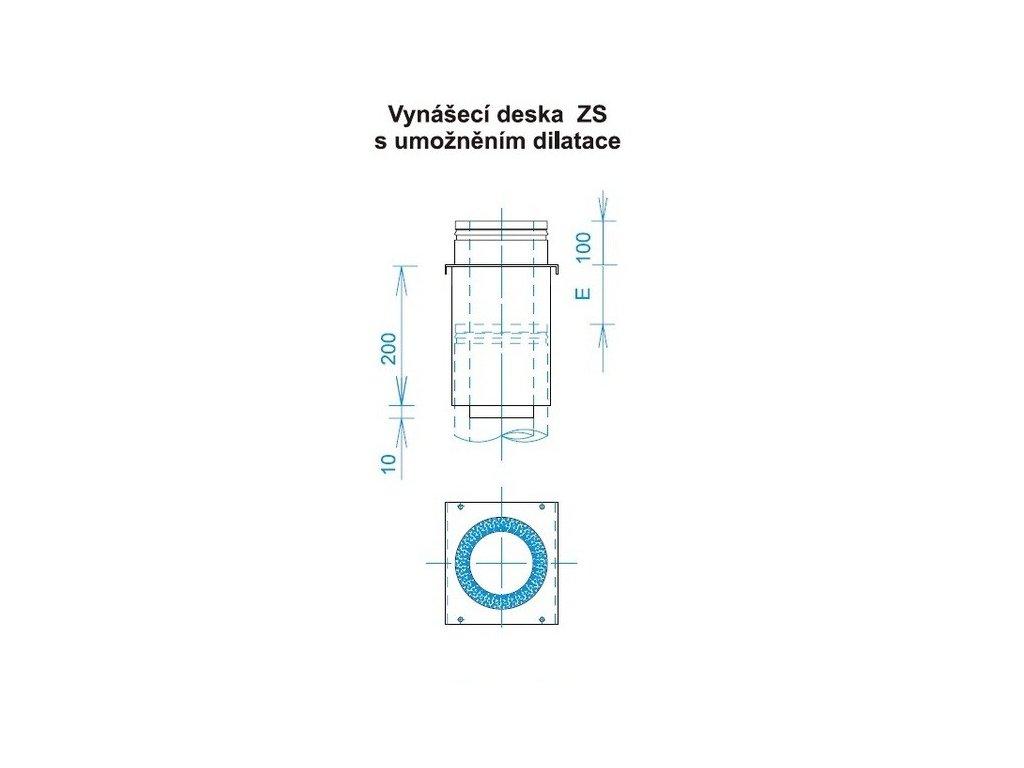 Meziopěrná deska (Ø130 mm, tl. 0,8 mm)