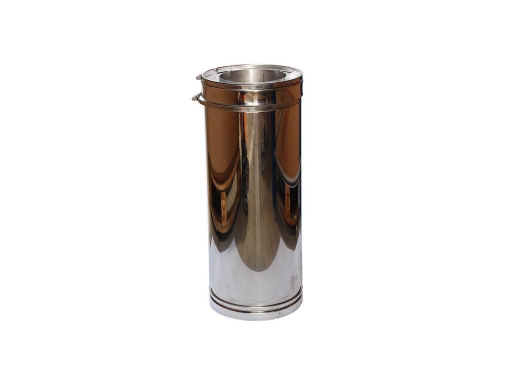 Trubkový díl 0,5 m (Ø130 mm, tl. 1,0 mm)