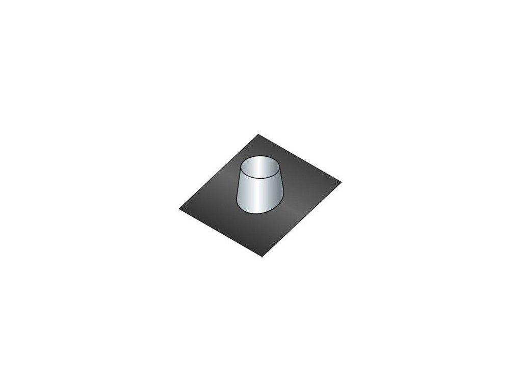 Střešní těsnící příruba 0°-15° (Ø130 mm, tl. 0,8 mm)