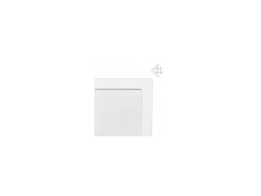 Kratki mřižka bíla (lakovana) 17x37 cm