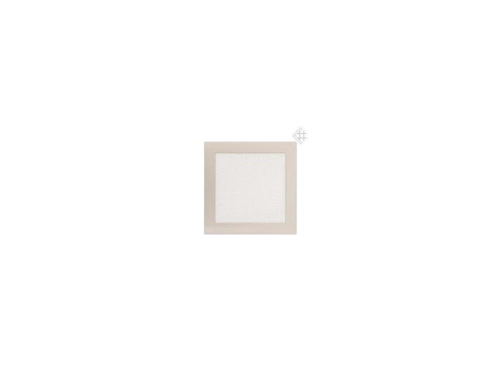 Kratki mřižka krémová (lakovana) 17x37 cm