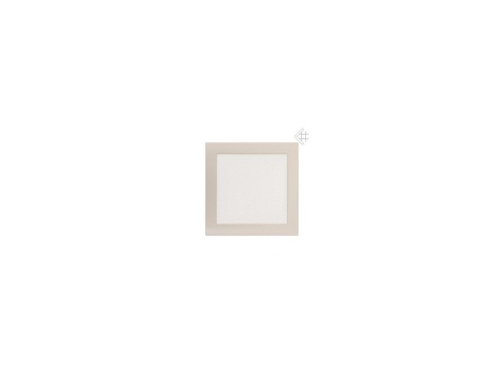 Kratki mřižka krémová (lakovana) 17x49 cm