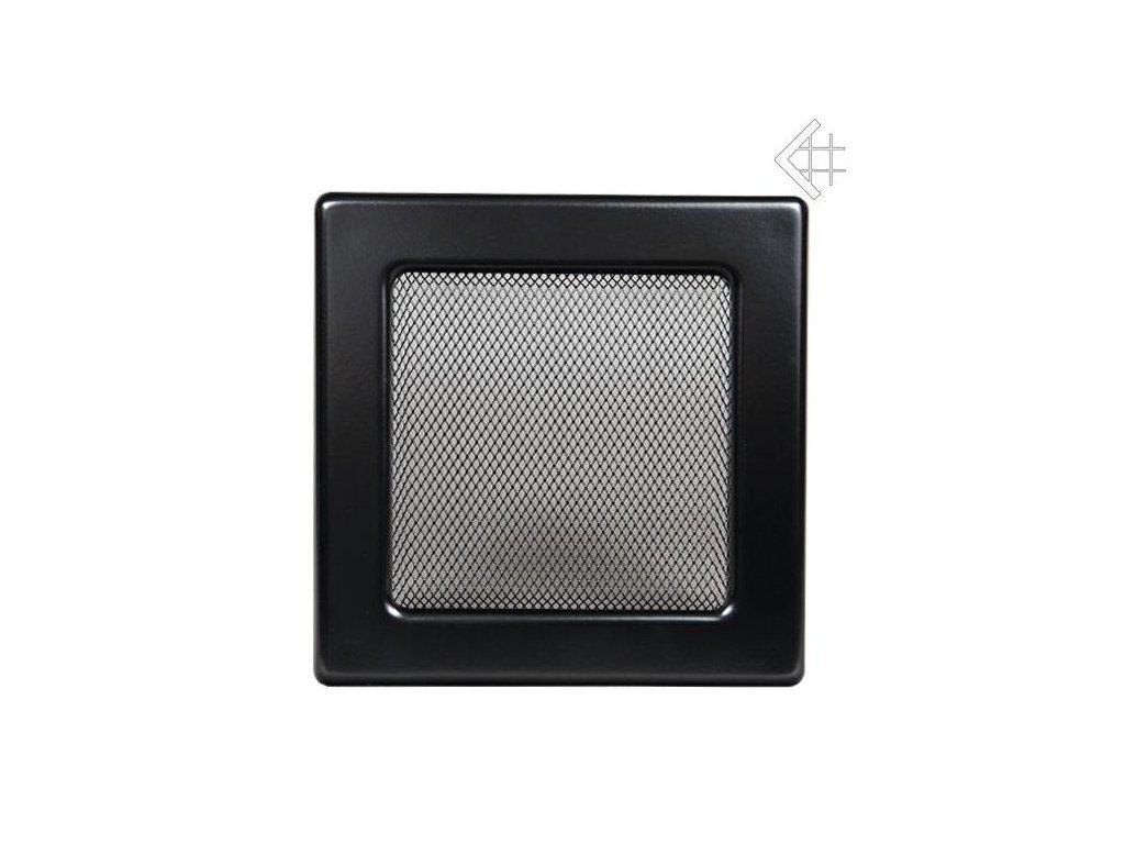 Kratki mřižka černá (lakovana) 22x45 cm