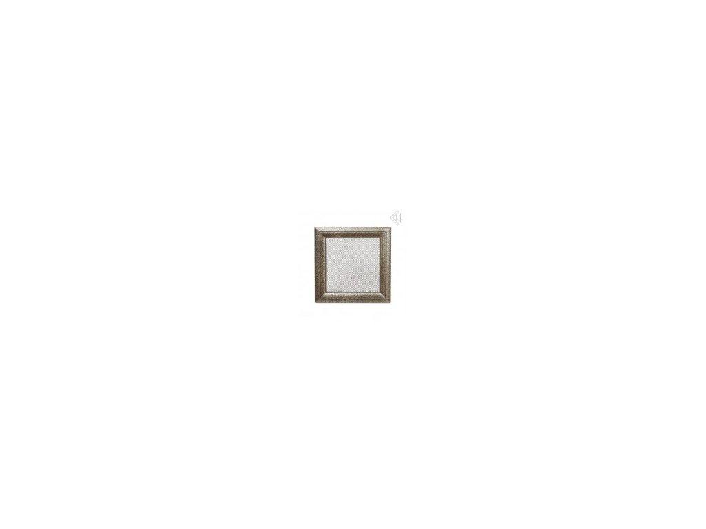 Kratki mřižka černo-zlatá (lakovaná) 22x22 cm