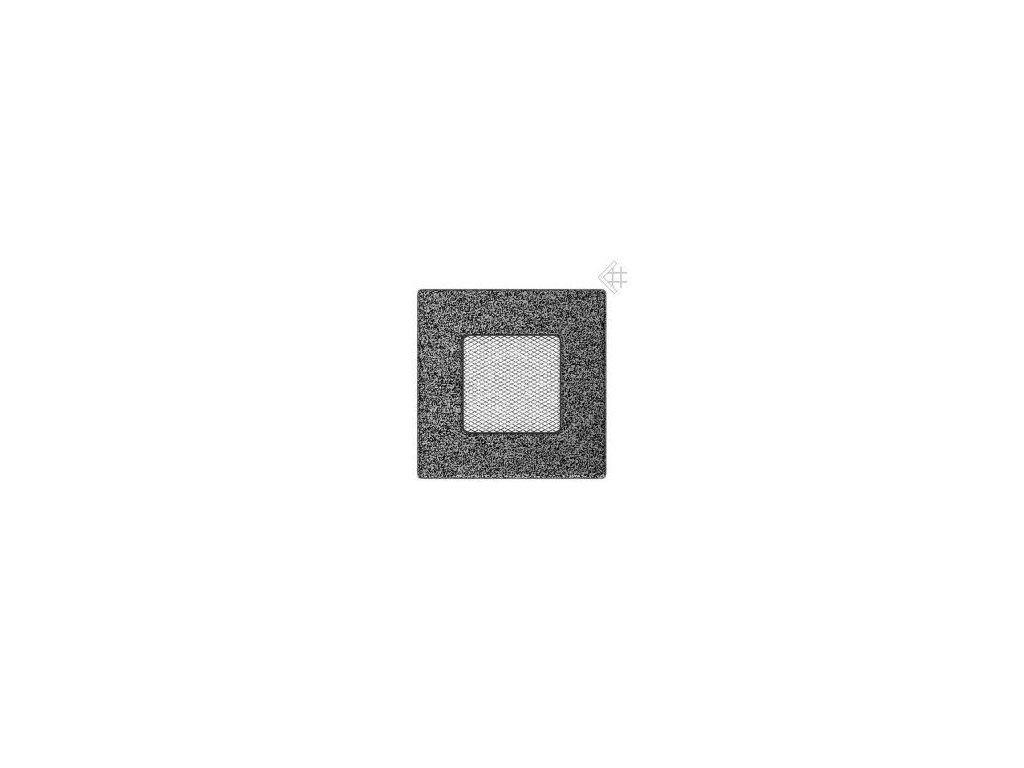 Kratki mřižka černo-stříbrná (lakovaná) 17x17 cm