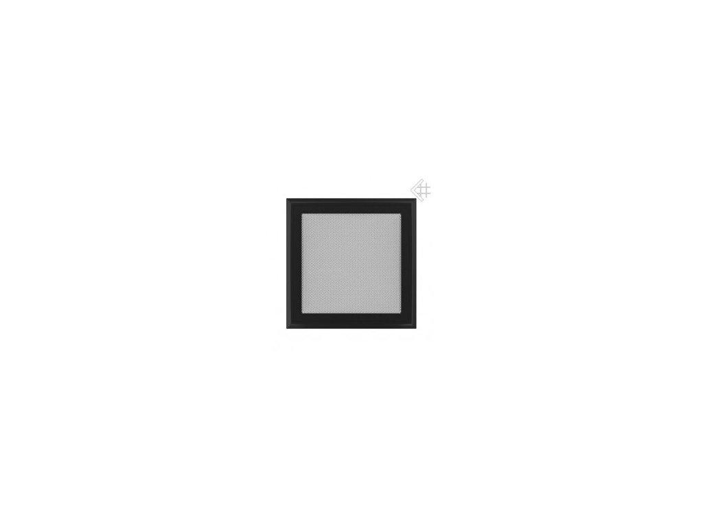 Kratki mřižka oskar černá (lakovaná) 17x17 cm