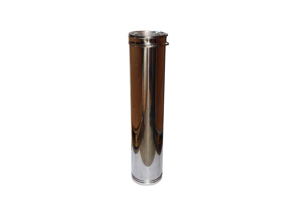 Trubkový díl 1 m (Ø130 mm, tl. 0,8 mm)