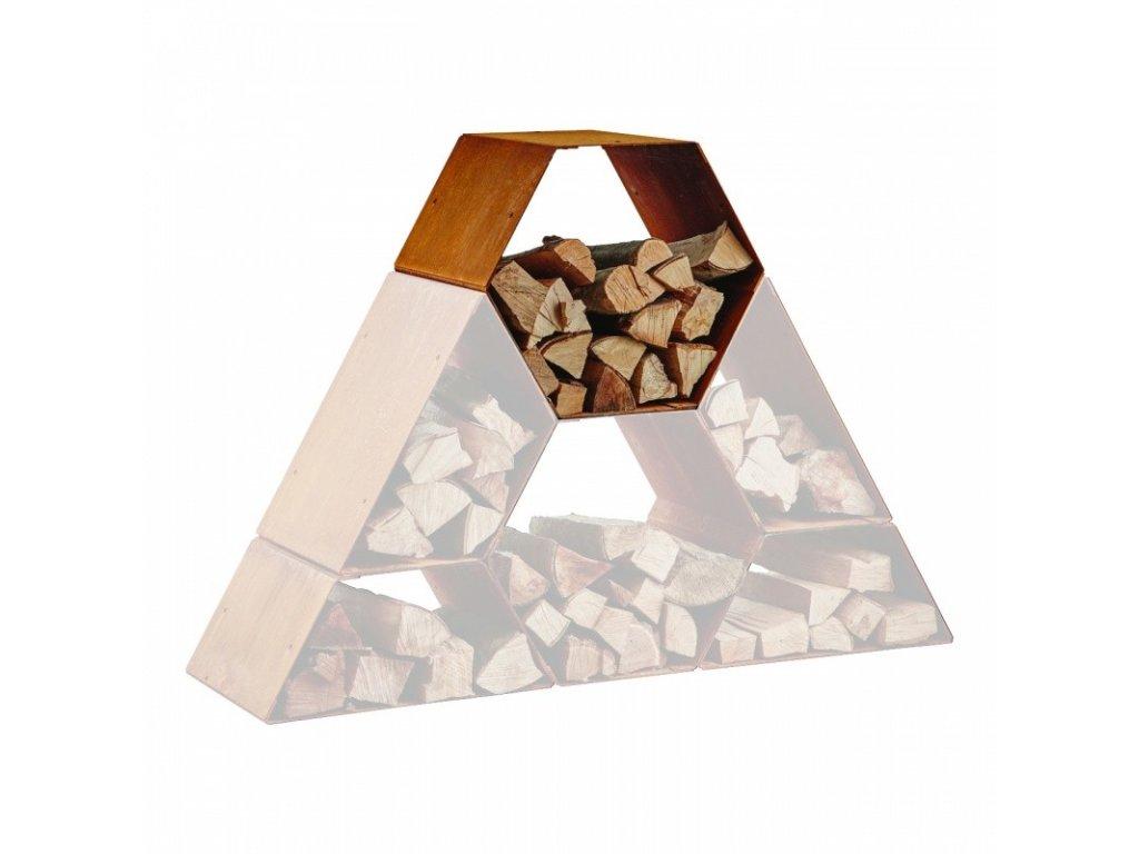 Hexagon dřevník