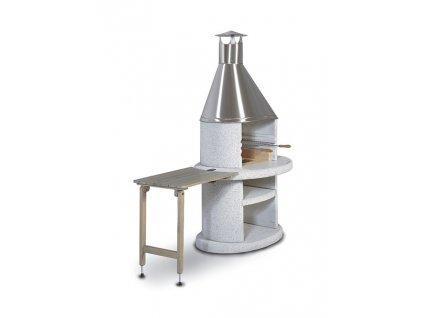 Stolek odkládací dřevěný Arcus šedý 70 x 45 cm