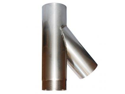 Připojovací díl 45° kom. vložky - Y díl (Ø160mm, tl. 1,0 mm)
