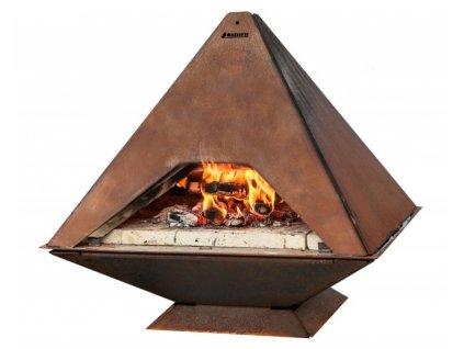 Aduro Prisma pizza pec a venkovní krb, nízkolegovaná ocel - 01
