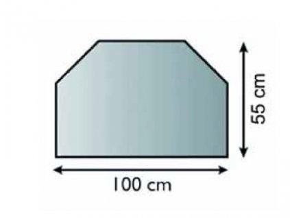 Podkladové sklo pod kamna Dublin 6 mm