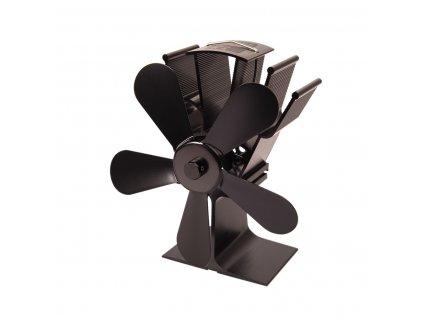 Ventilátor na kamna FLAMINGO pětilopatkový, černý;Ventilátor na kamna FLAMINGO pětilopatkový, černý;Ventilátor na kamna FLAMINGO pětilopatkový, černý
