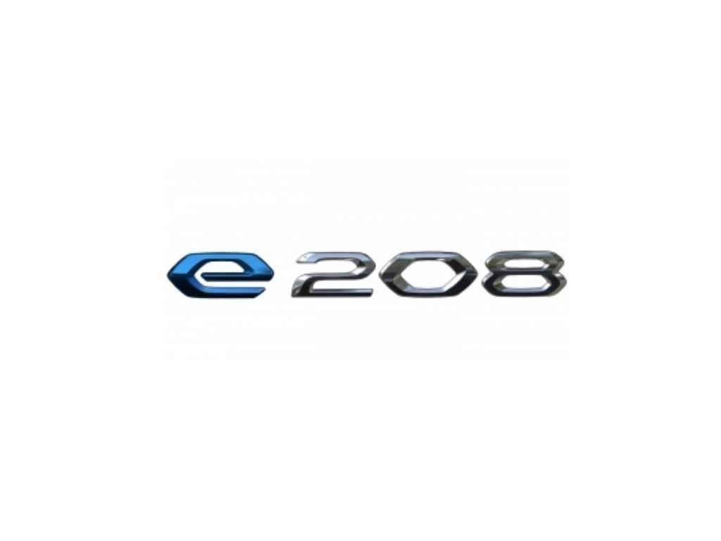e 208 znak peugeot 208