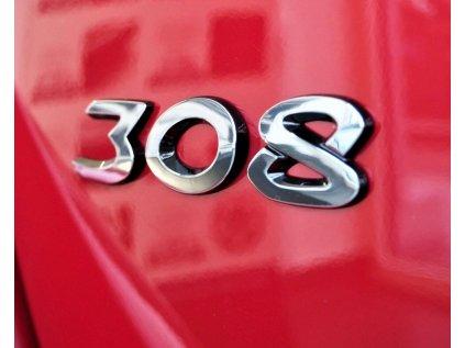 """Znak nalepovací """"308"""" Peugeot 308 a 308 SW"""