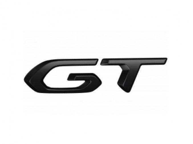 Znaky nalepovací GT černé, Peugeot 3008, 5008 facelift