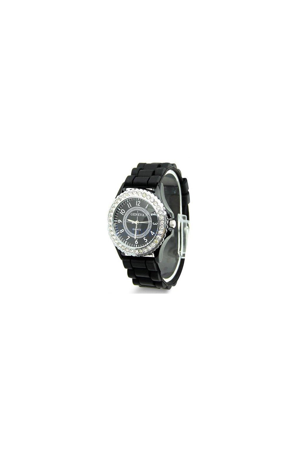 SILICON hodinky ČERNÉ