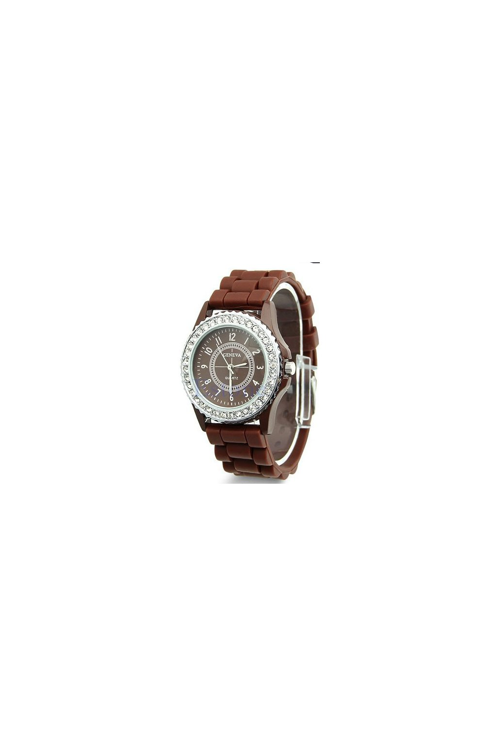 SILICON hodinky HNĚDÉ