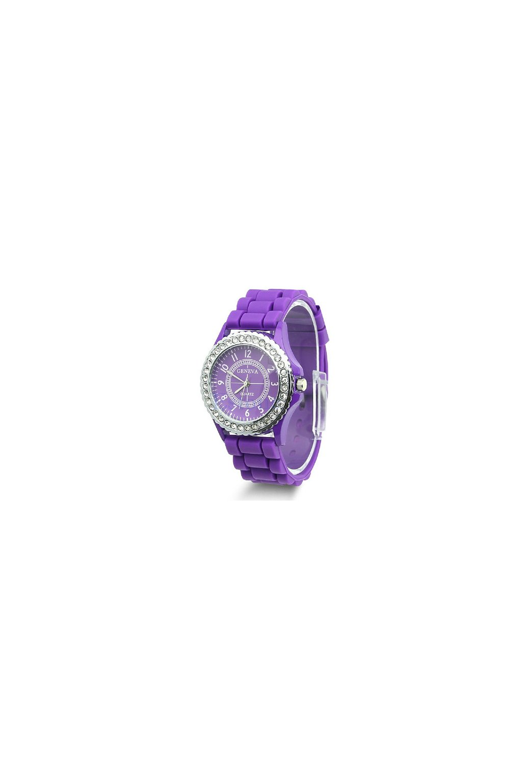 SILICON hodinky FIALOVÉ