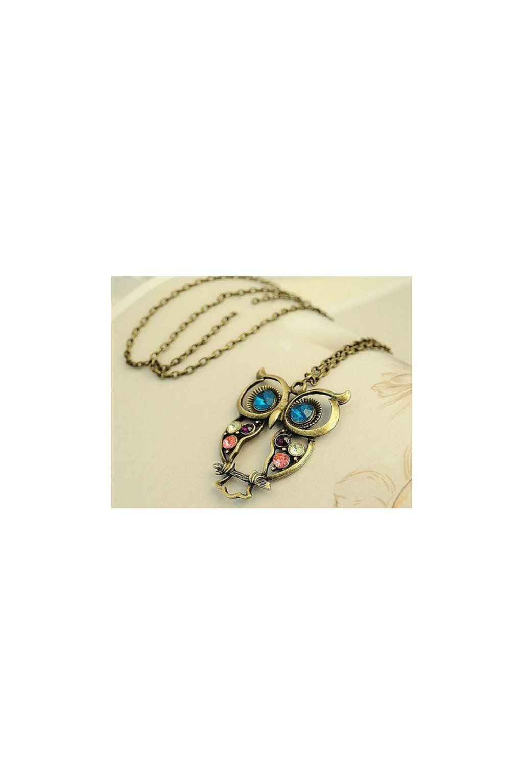 Dlouhý náhrdelník se sovou