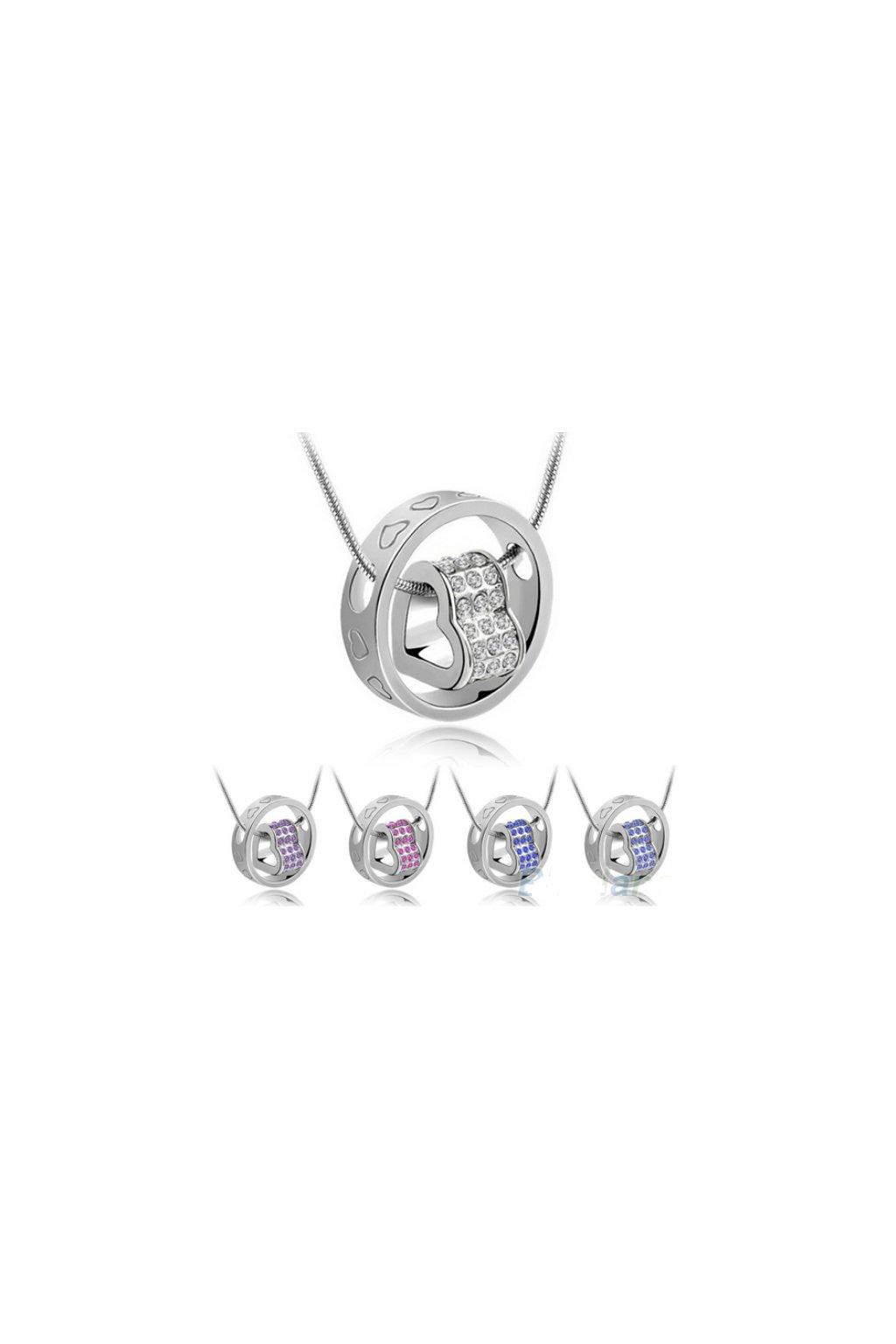 Originální srdíčkový náhrdelník